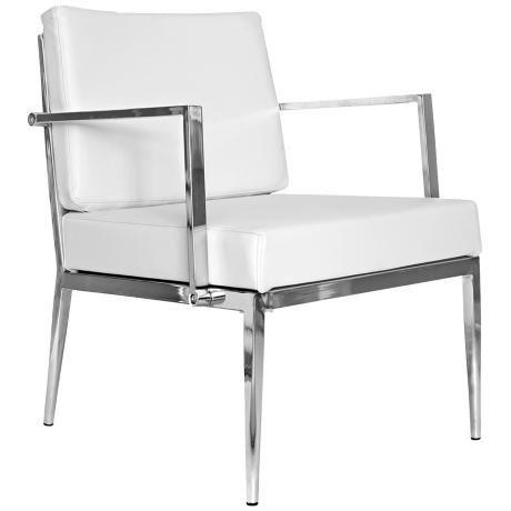 Strange Nancy White Leather Armchair Furniture Chair Accent Machost Co Dining Chair Design Ideas Machostcouk