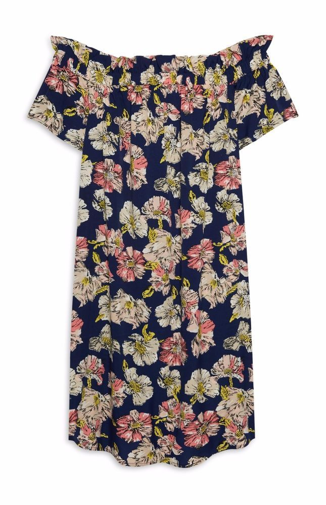 bc6449d3 Floral Bardot Dress, Floral Prints, Men Casual, Primark, Summer Dresses,  Clothes