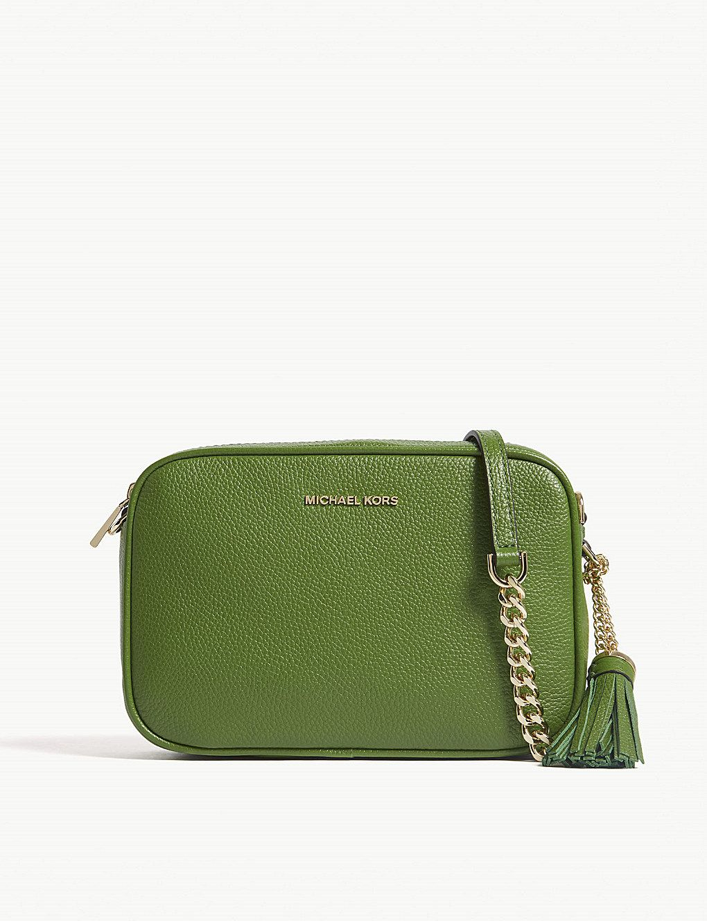 8988c5efad33 MICHAEL MICHAEL KORS - Ginny medium grained leather cross-body bag