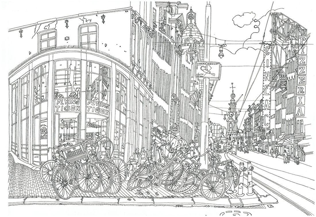 Drawing Ellessi Rembrandtplein Amsterdam