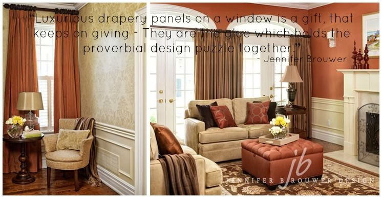 Foyer Window Quotes : Luxurious drapery panels on a window is gift that keeps