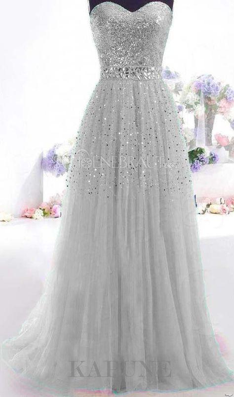 2015 sexy Pailletten trägerlose Abendkleid ärmellose Chiffon Abiballkleider St…
