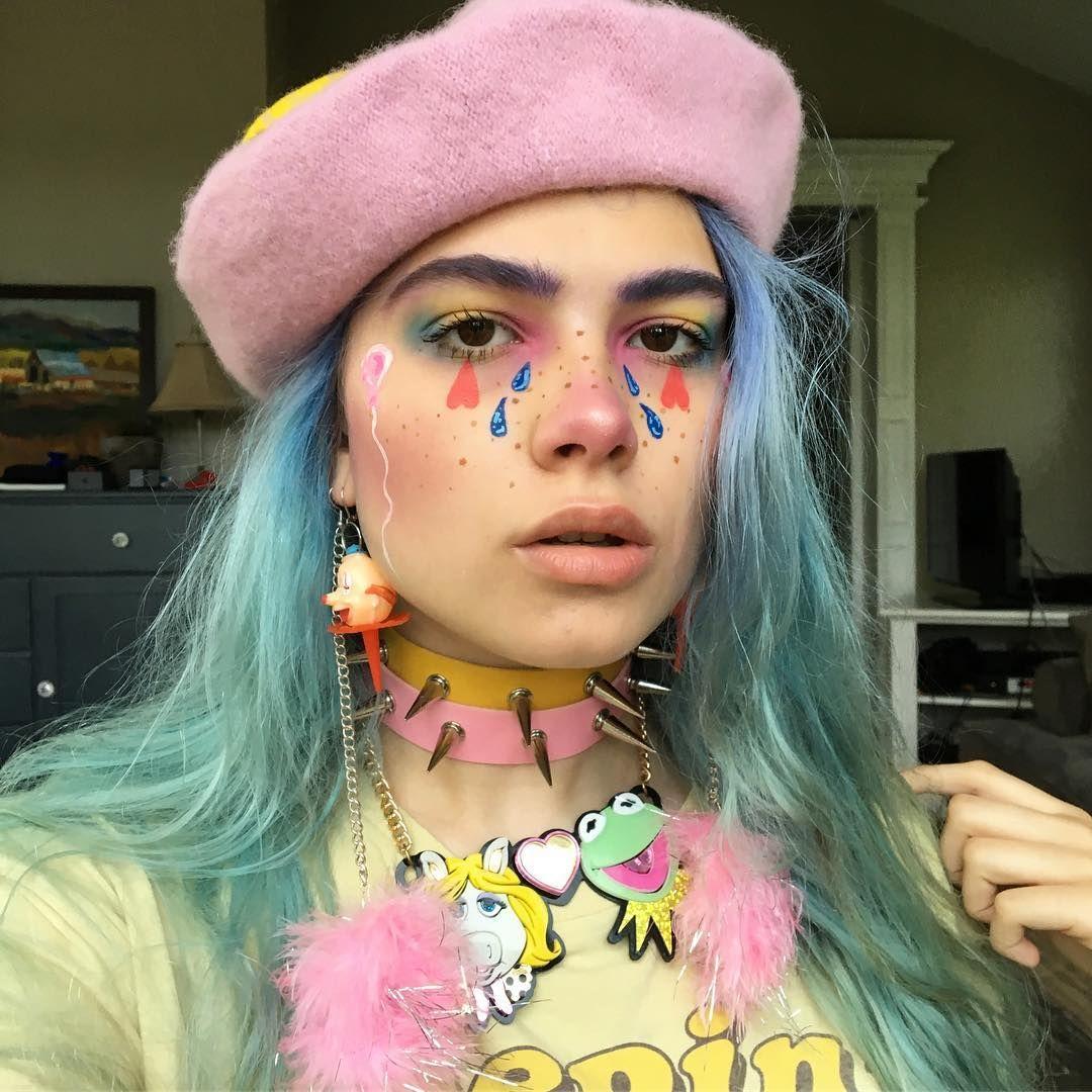 pastel goth Alternative makeup, Aesthetic makeup, Kids