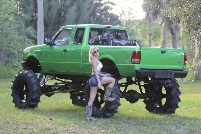 Hot Mud Girl Next To 1995 Ford Ranger Mud Truck Jpg 660 440