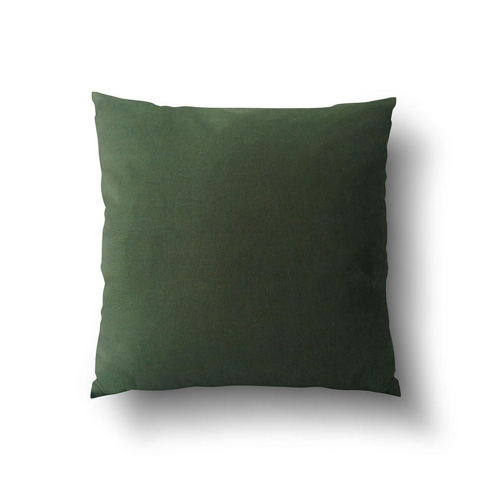 Cushion cover solid dark green cotton linen mix green cotton