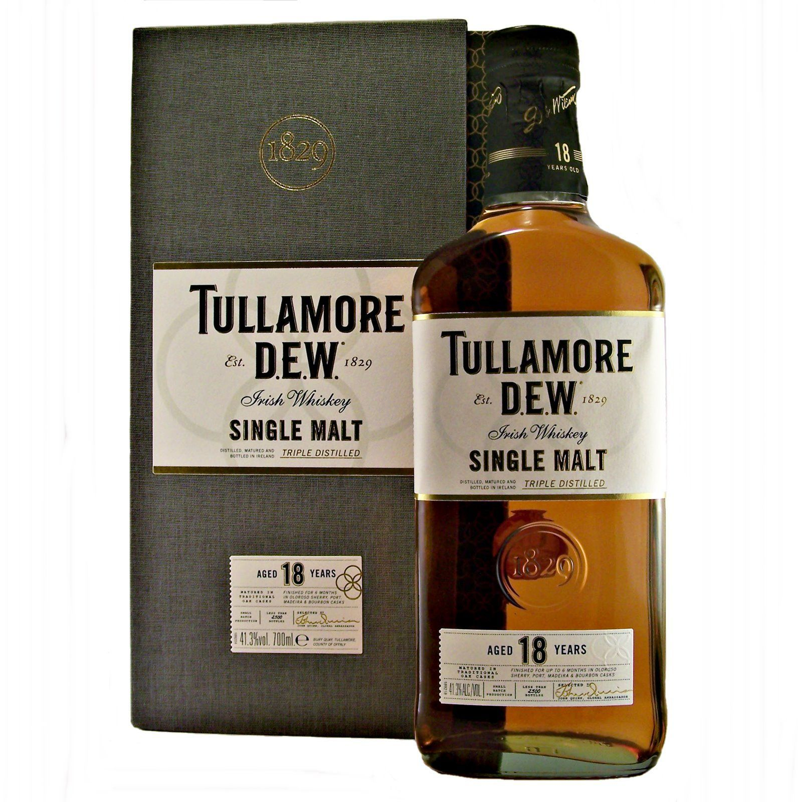 Tullamore 18 Year Old Single Malt Irish Whiskey Limited Edition Available To Buy Online At Specialist Whisky Sh Whiskey Irish Whiskey Single Malt Irish Whiskey