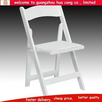 Hot sale white wood wedding chairs used wedding folding chairs