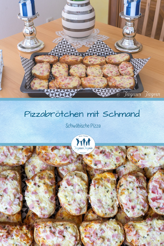 Pizzabrötchen mit Schmand� Schwäbische Pizza mit PDF