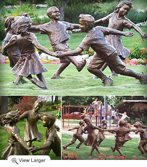 Bronze Children Statues | Circle of Peace