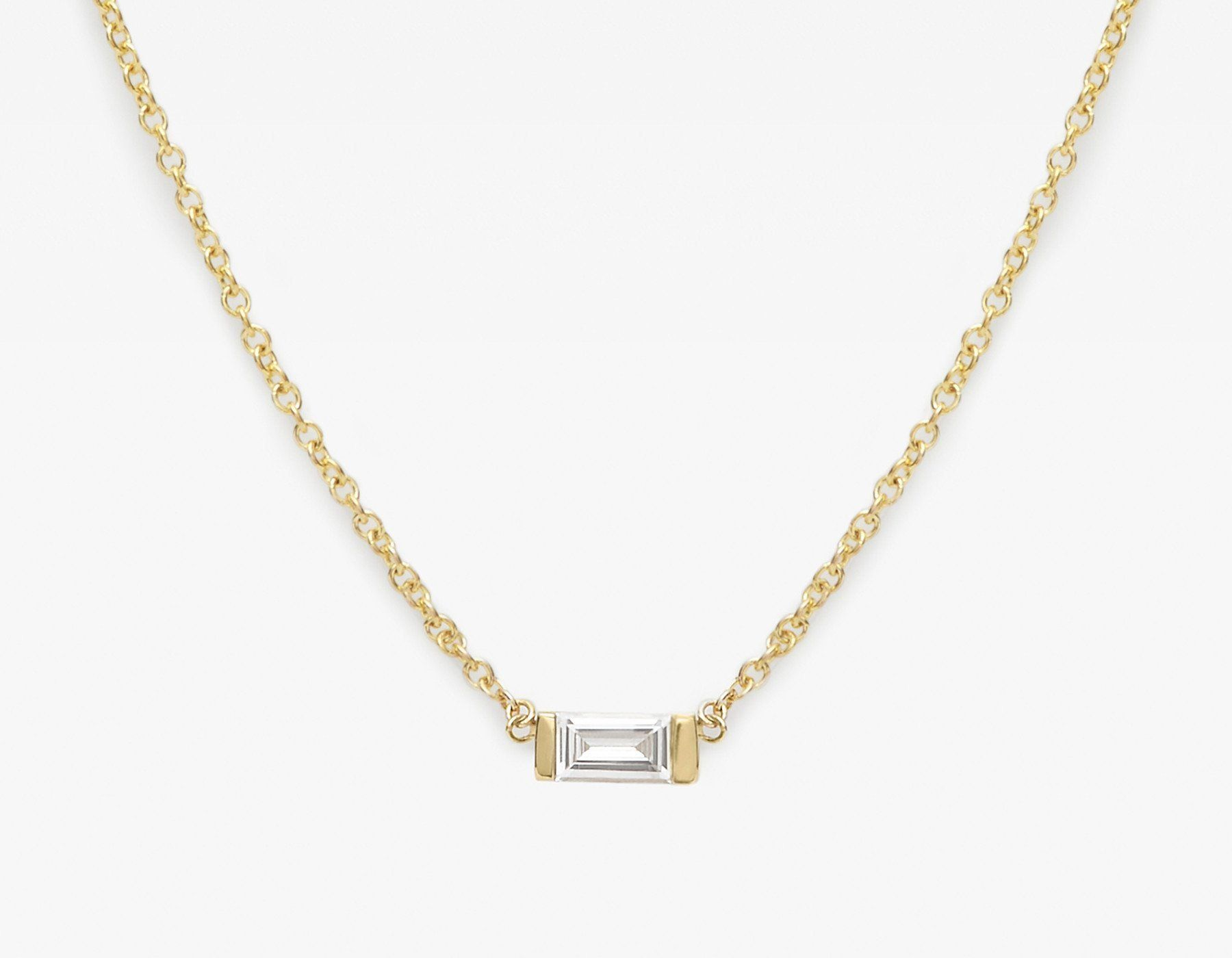 Baguette Diamond Necklace   Diamond, Gold and Bling