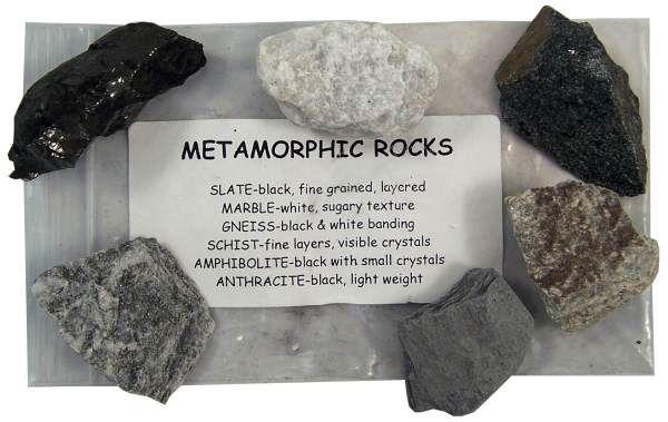 Metamorphic Rock Bag Set Of 6 Rocks Metamorphic Rocks Metamorphic Rock Types
