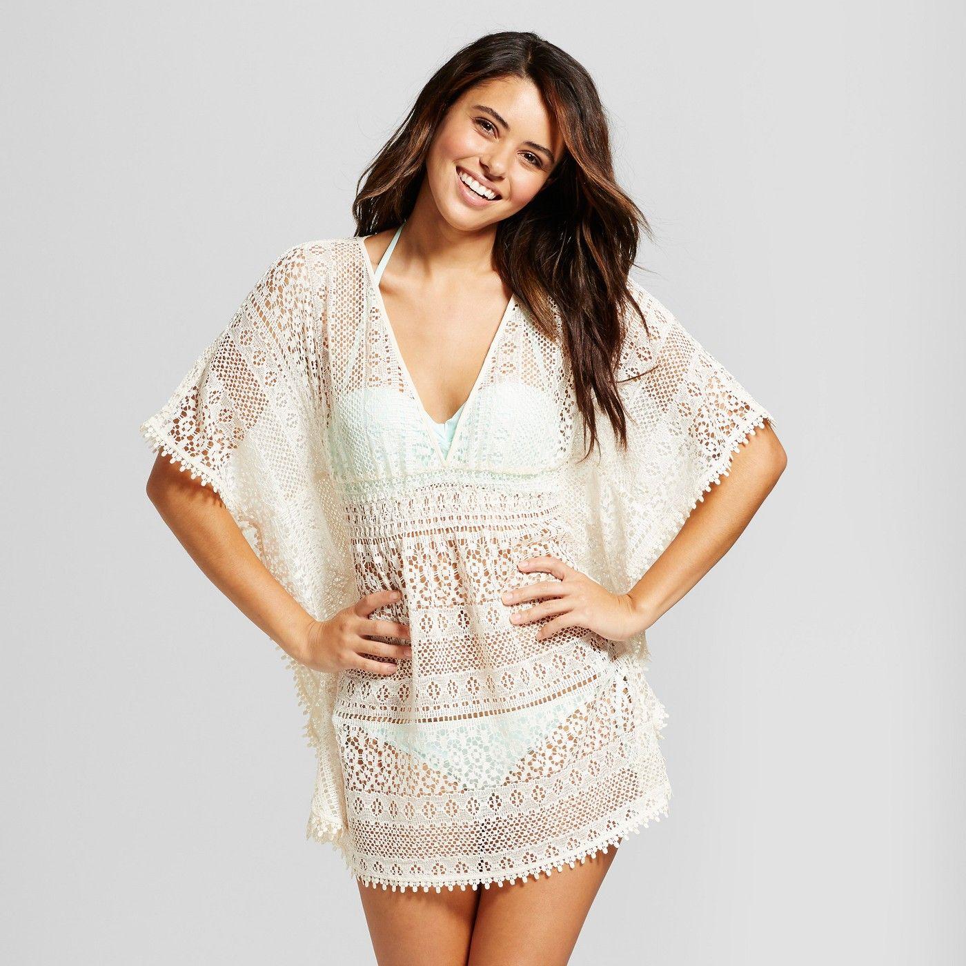 9c20064cd0a16 Women's Crochet Lace Kaftan Cover Up - Xhilaration? Black XL #Lace,  #Kaftan, #Women