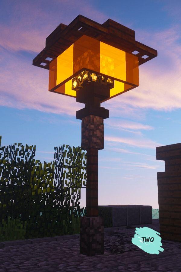 Minecraft Simple Modern Lamp In 2020 Minecraft Architecture Minecraft Minecraft Modern