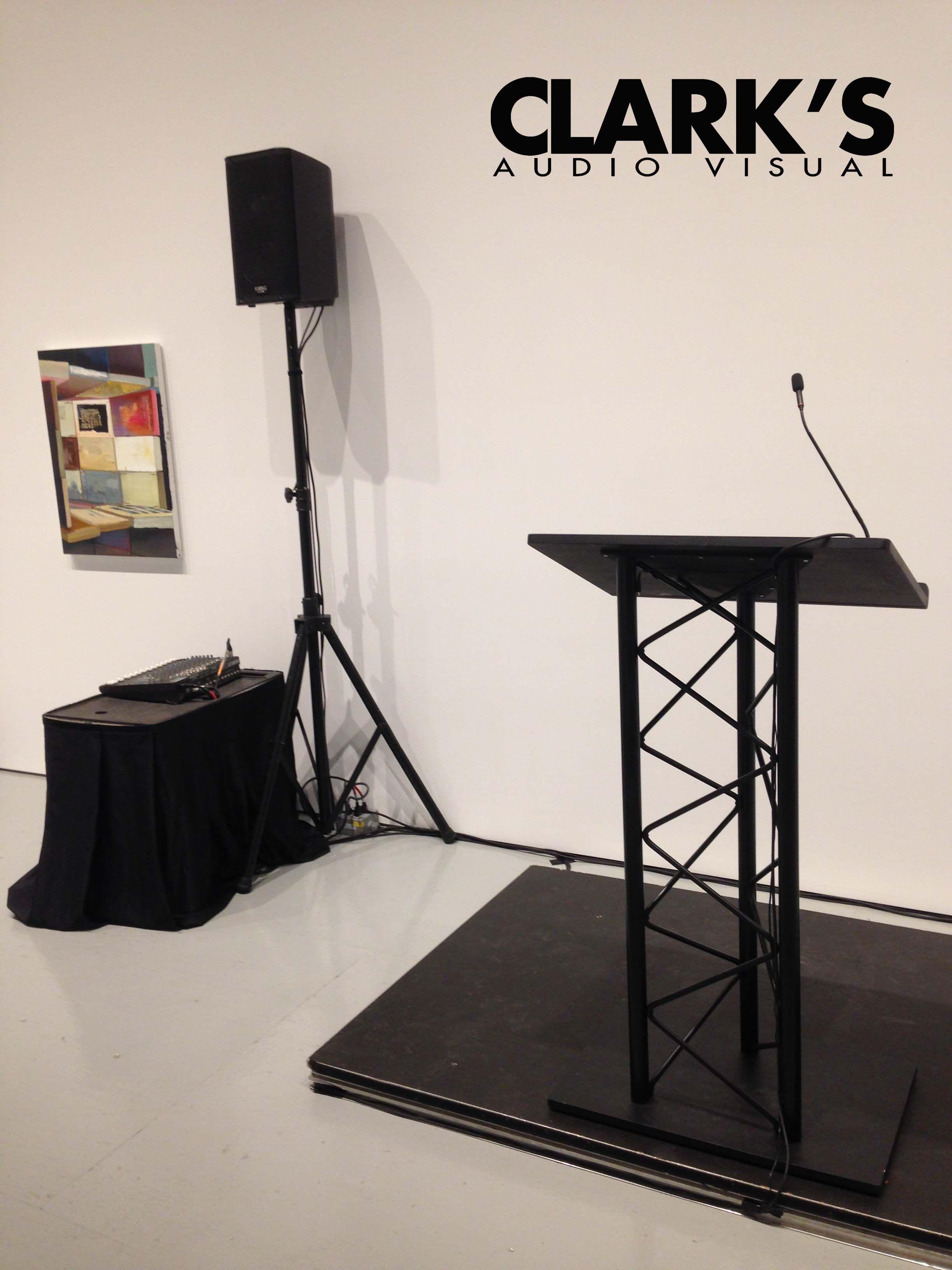 truss podium audio visual rental receptionparty podiums lighting