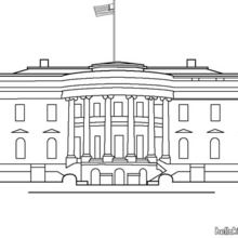 The White House Classroom Helpers House Colouring Pages