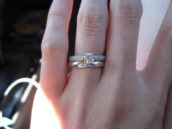 Round Solitaire On Pave Band Can I See Your Wedding Set