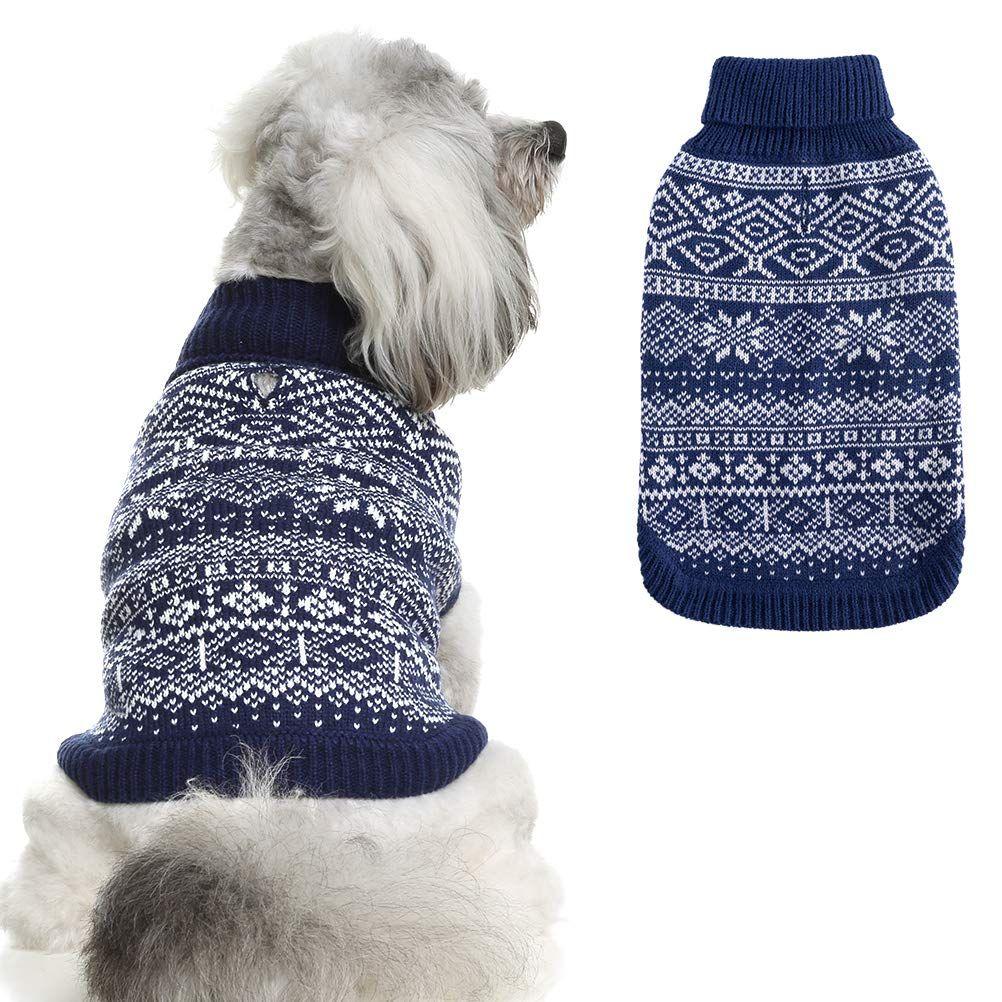 HOMIMP Argyle Dog Sweater Warm Sweater Winter Clothes