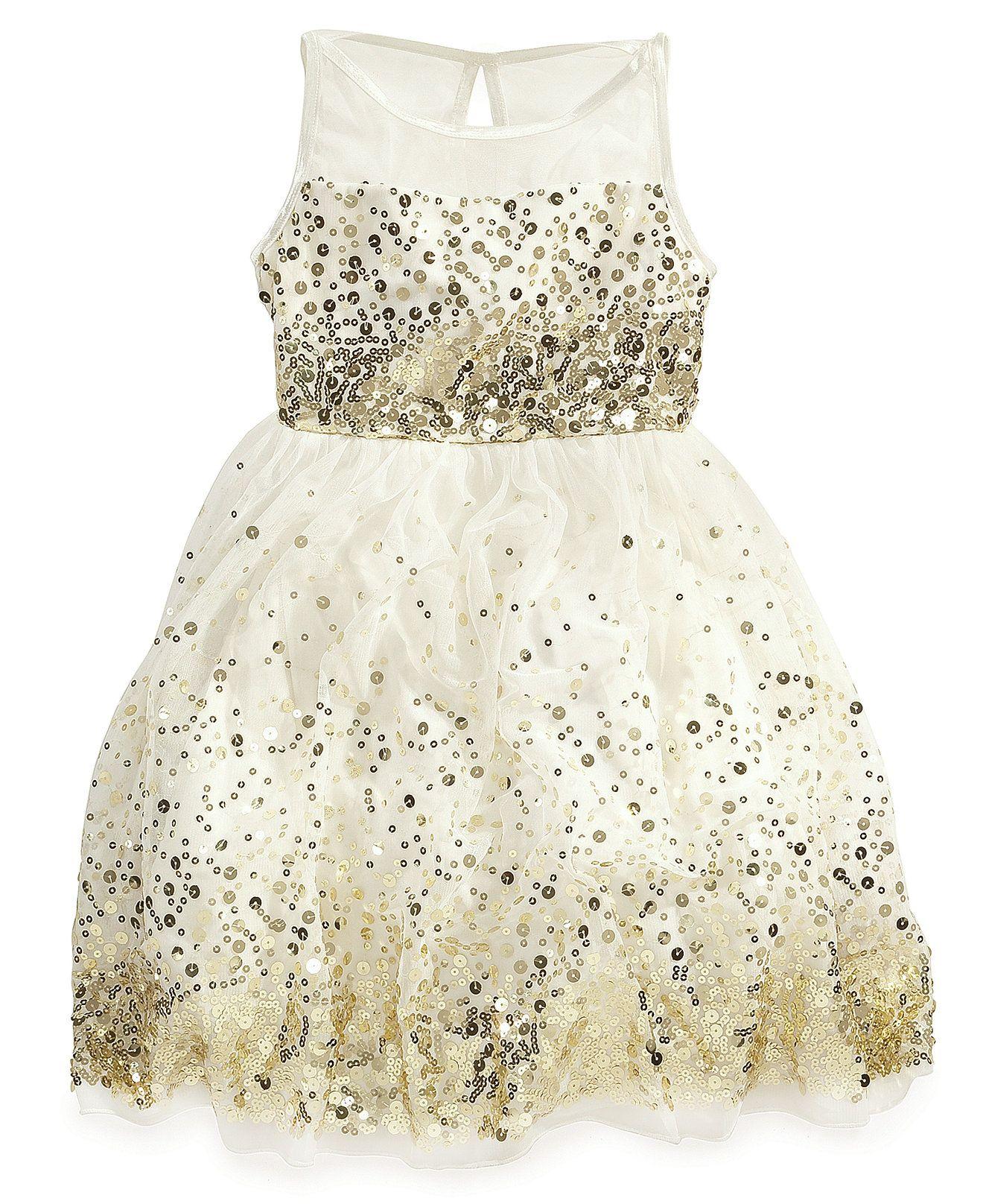 Ruby Rox Girls' Sequin Illusion Dress - Kids - Macy's