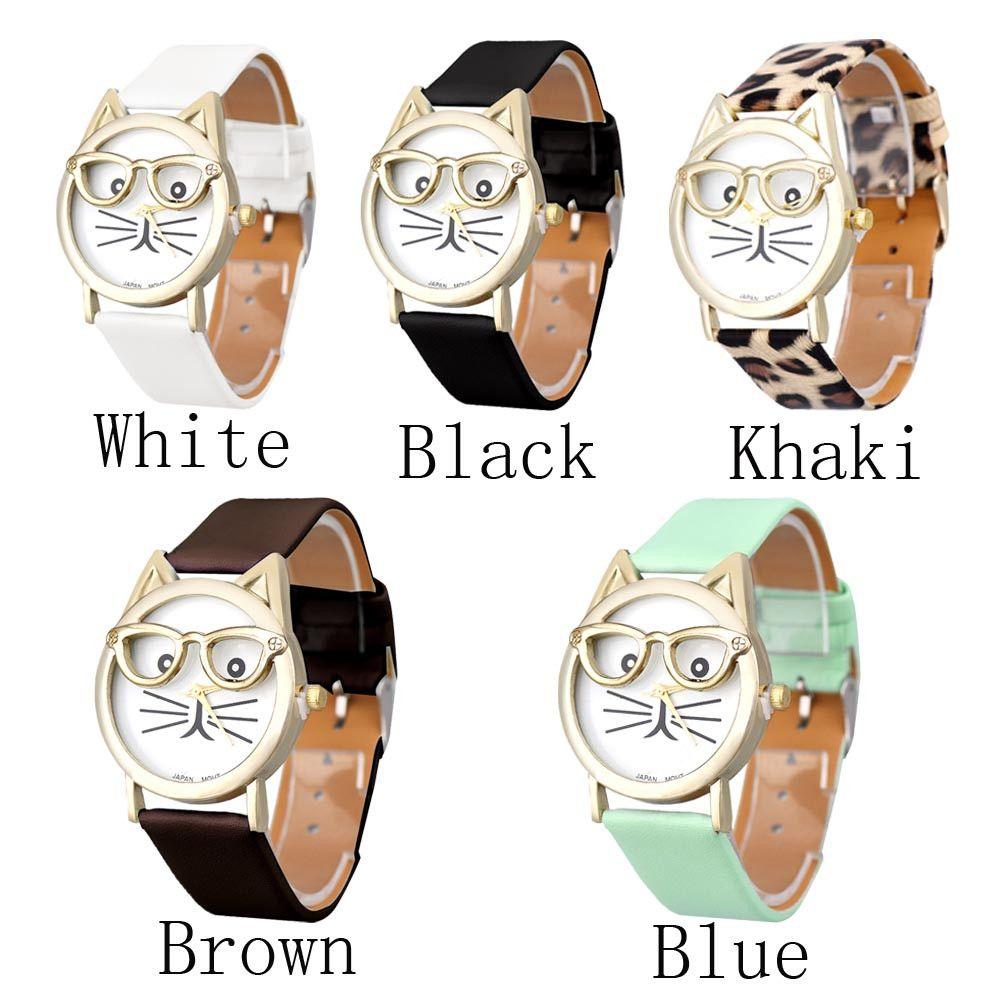09e3464a54e Feida grande Montre femme bonito de gato analógico de pulso de quartzo  relógio das mulheres relógio feminino em Fashion Watches de Relógios no ...