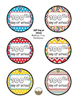 photo relating to 100 Days Smarter Printable named FREEBIE- 100th Working day of University Buttons/Necklaces Preschool