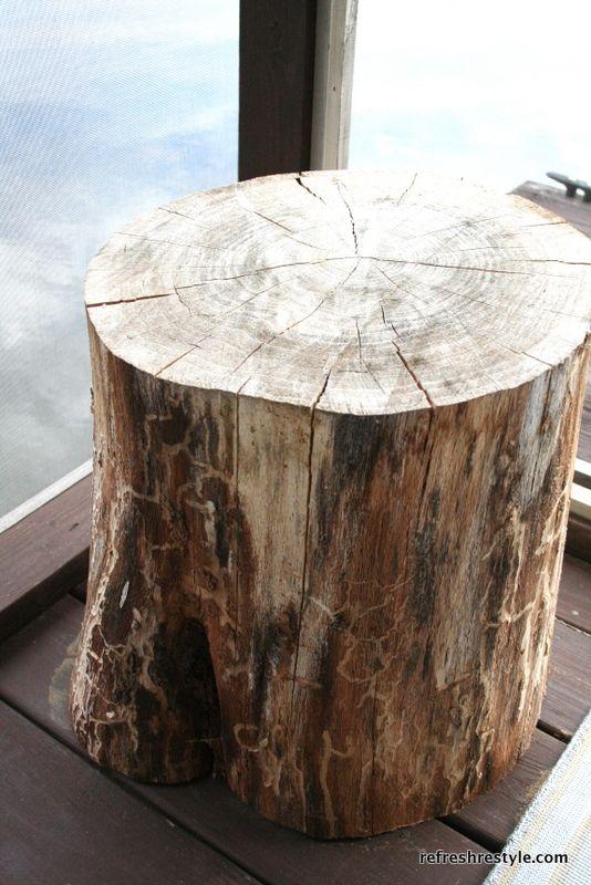 Marvelous Tree Stump Side Table