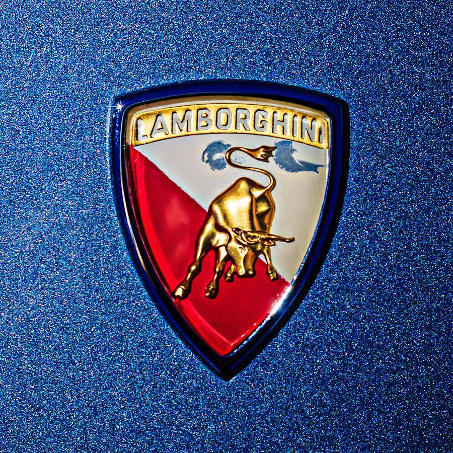 1965 Lamborghini 350 Gt Emblem Photograph By Jill Reger With