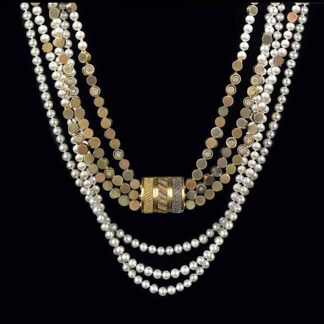 *Triple Strand Necklace (by Vicki Eisenfeld)