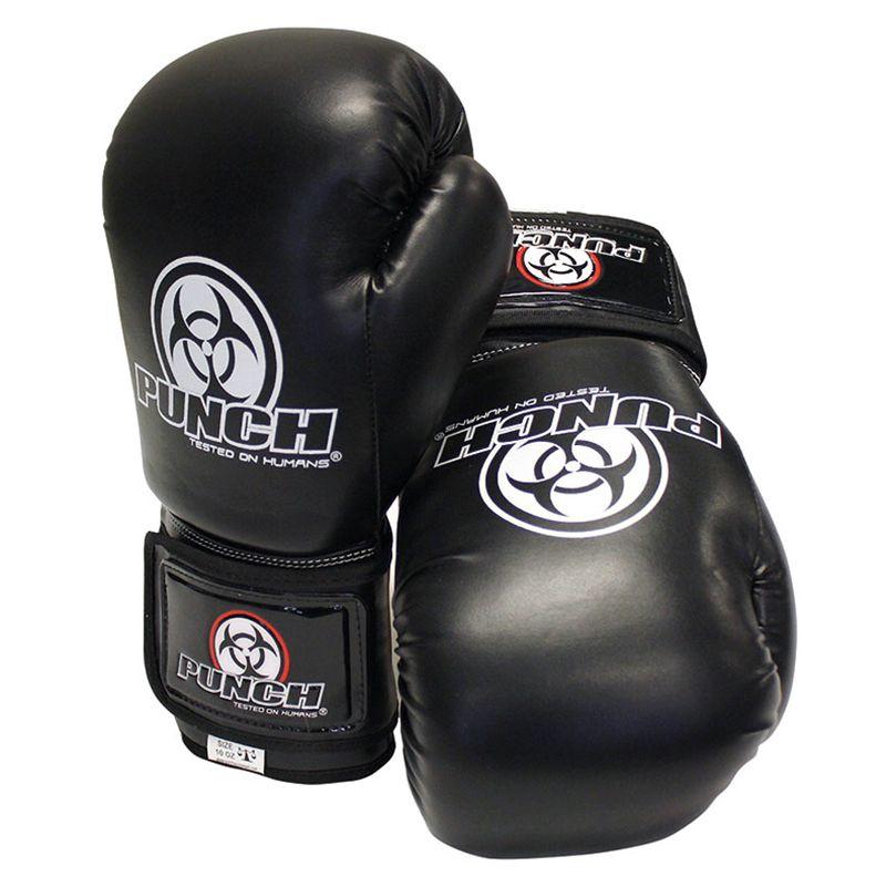 Punch Boxing Gloves Urban Black Sparring Fitness Gloves 10oz 12oz 16oz