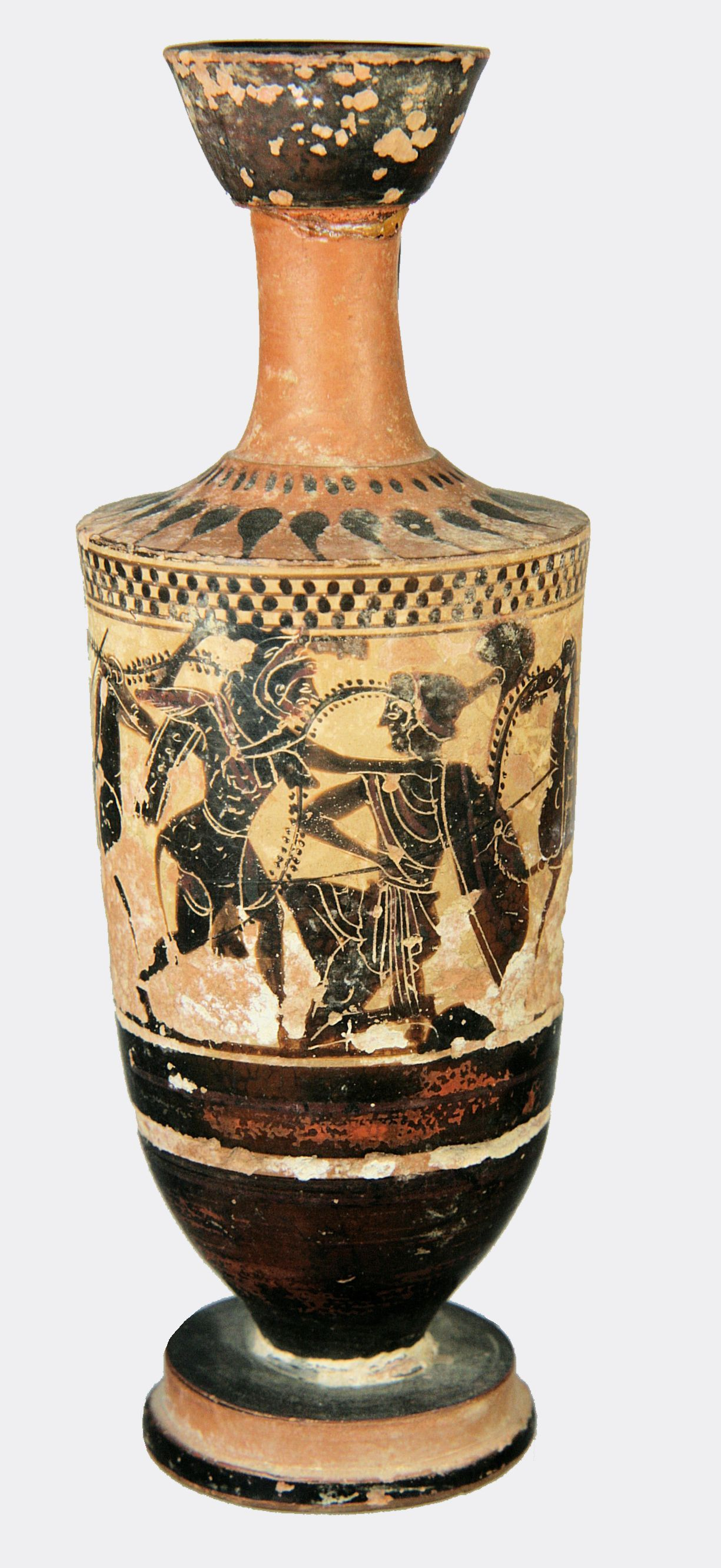 Greek Herakles And Hippolyte Lekythos A Fine Black Figure White Ground Lekythos Decorated With The Ninth Labour Of Herakles The Scene Depicts Herakles About T