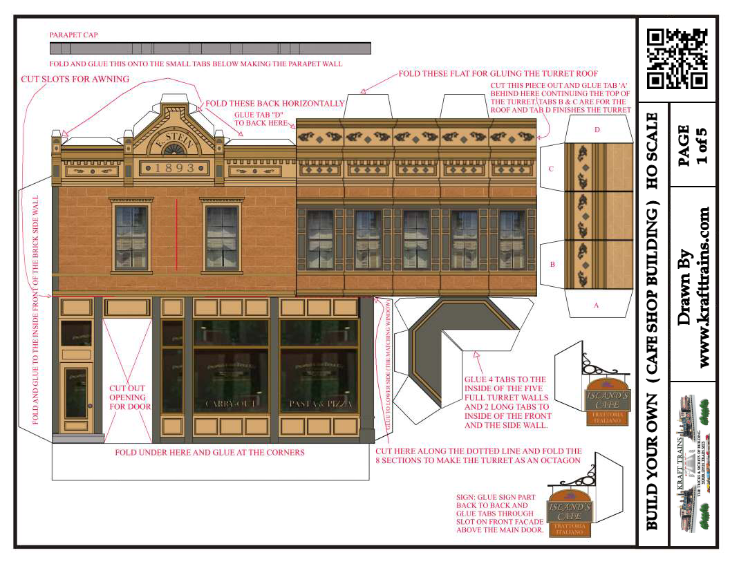Free Printable Ho Scale Model Coffee Shop