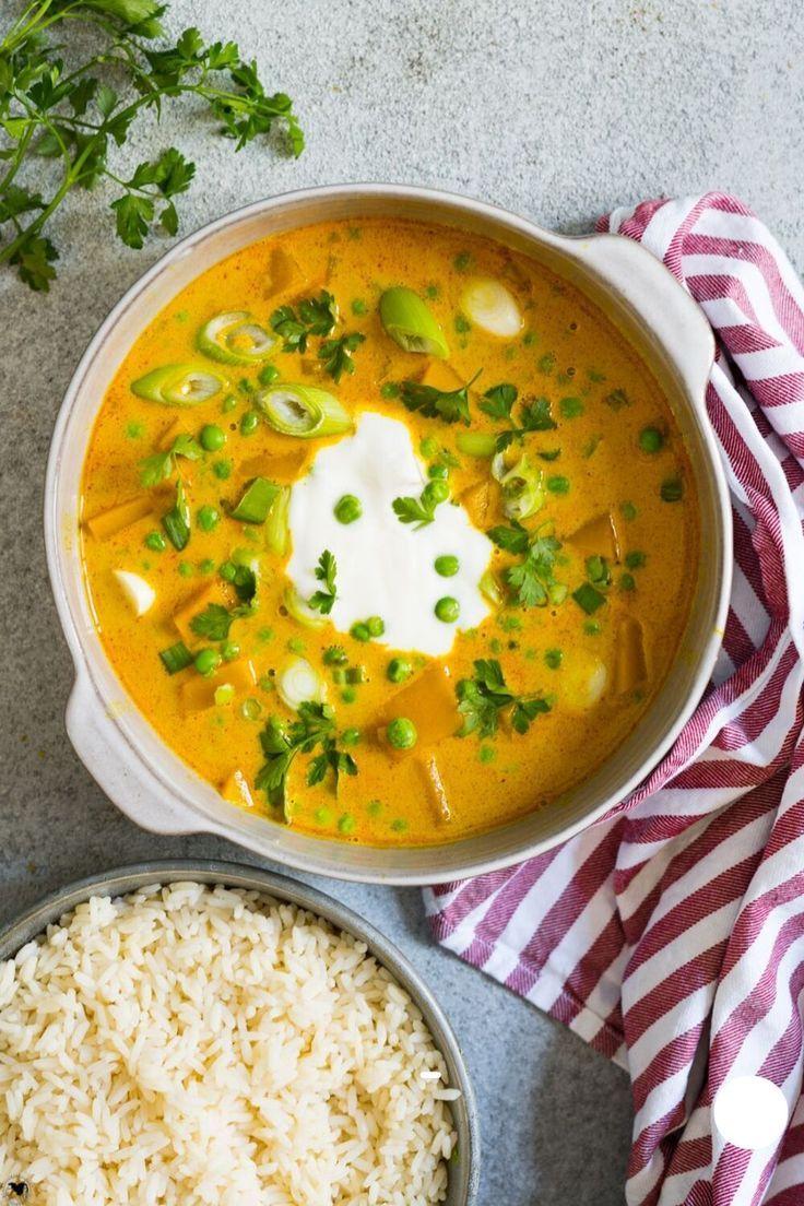 Kürbiscurry mit Reis #herbstgerichte