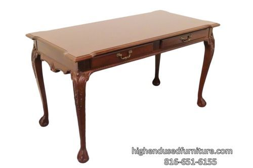 Stanley Furniture Banded Mahogany Chippendale Ball Claw 54