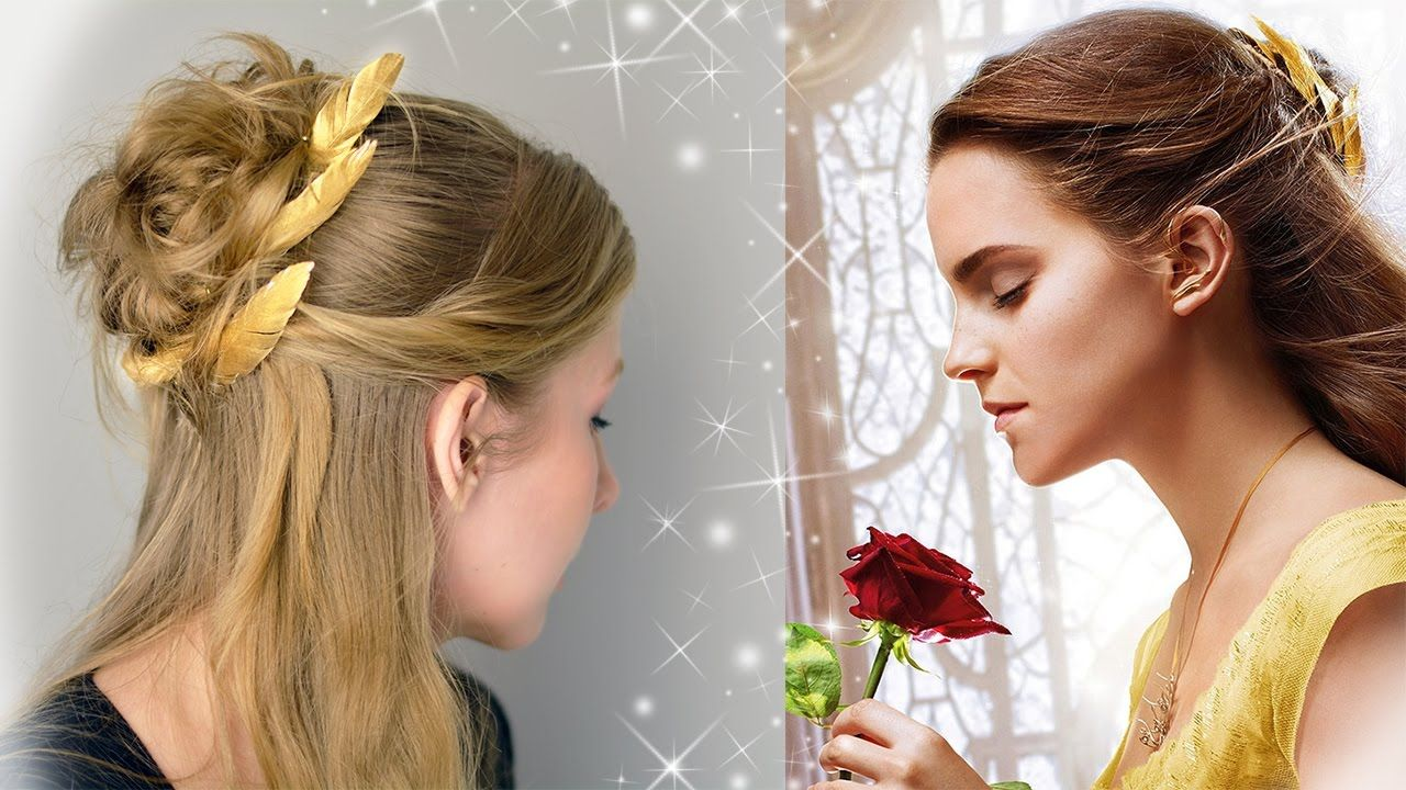 beauty and the beast hair tutorial | emma watson as belle