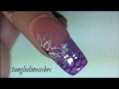 Net Imprinted Snake Skin Acrylic Nail Design My Youtube Channel