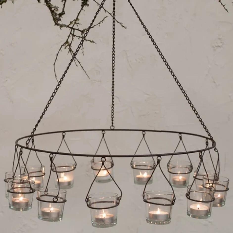 Tea light chandelier | Etsy