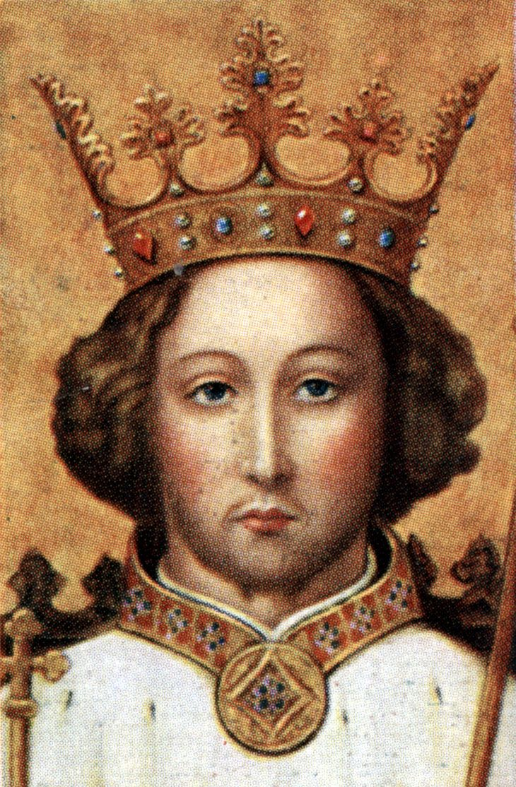 King Richard II - Reign: 1377 to 1399. He was deposed by Henry Bolingbroke.  He died in captivity in 1400, probably murdered, bringing an end to the  main ...