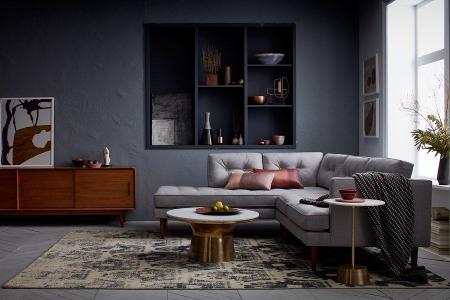 Choosing A Sofa Can Be Hard Here S How To Do It Front Main Grey Walls Living Room Modern Living Room Interior Small Room Design