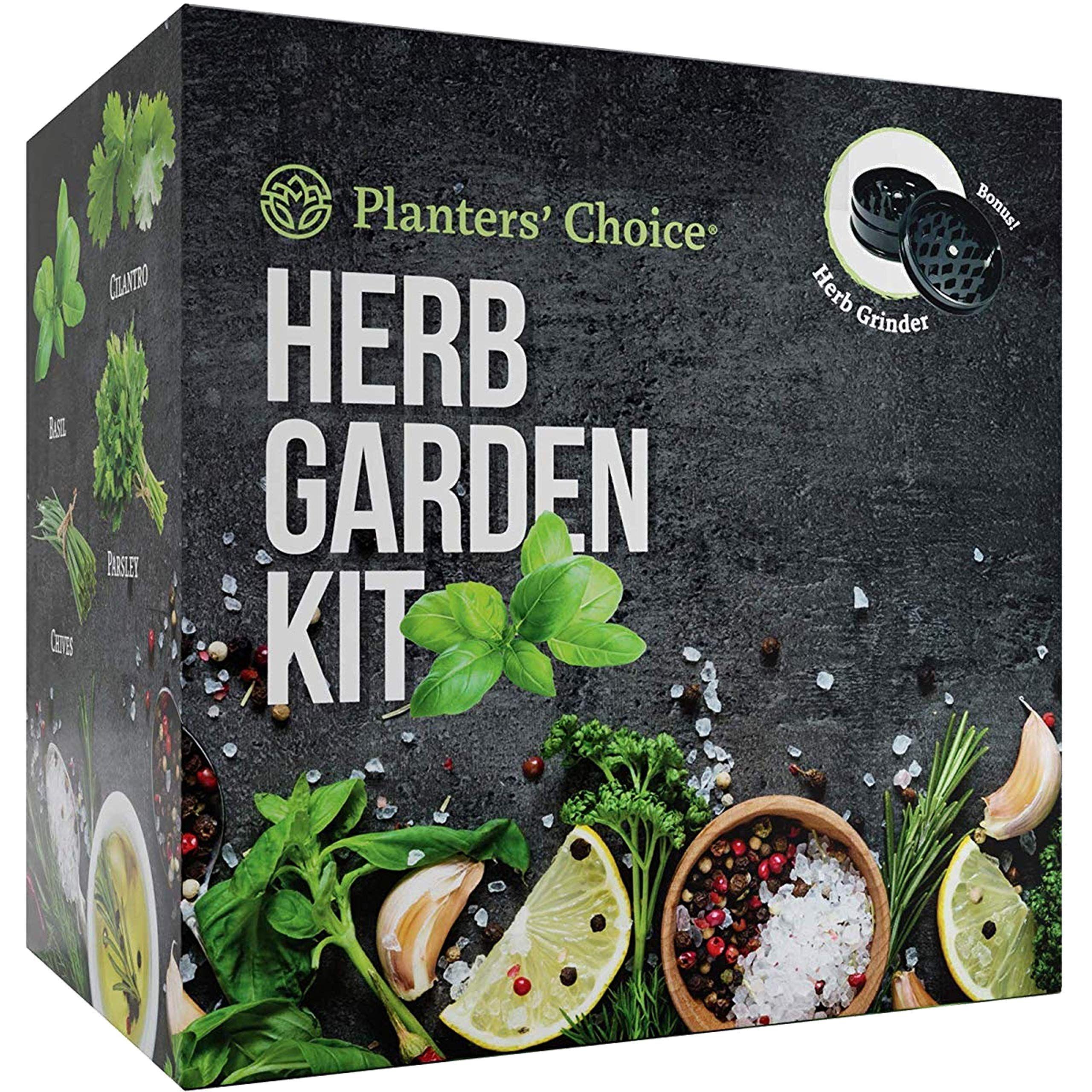 Planters' Choice Organic Herb Growing Kit Herb Grinder