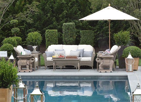 Garden Pool · Images Of India Hicks Designs | India Hicks, Outdoor Furniture,  Frontgate ...