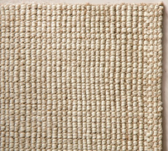 Chunky Wool Jute Rug Natural Greg Kimberly