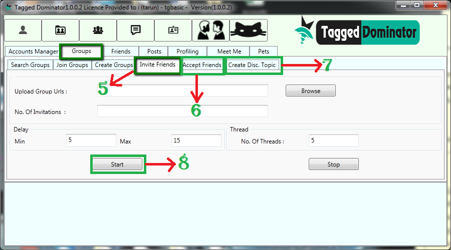 Manage group activities with TaggedDominator