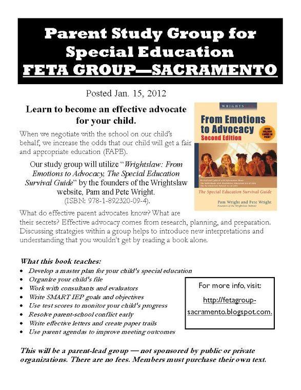 Sacramento Special Education Education Advocacy