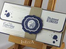 Geschenkverpackung für Konzertkarte Blau-Weiß-Sand #konzertkartenverpacken