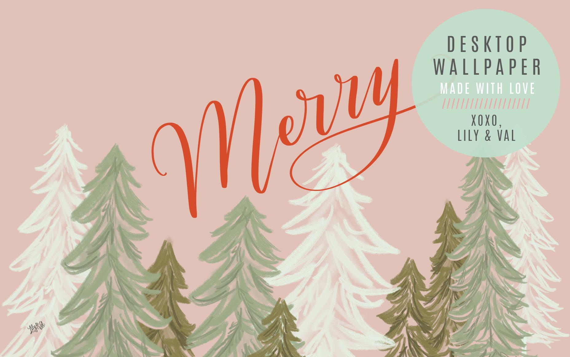 December S Merry Free Desktop Download Lily Val Living Desktop Wallpaper Art Aesthetic Desktop Wallpaper Xmas Wallpaper