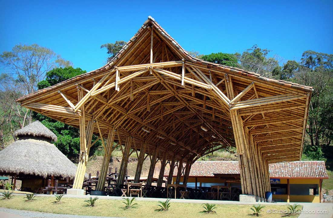 Bamboo structure the bamboo structure is suited - Bamboo Architecture At The Panaca Theme Park In Costa Rica