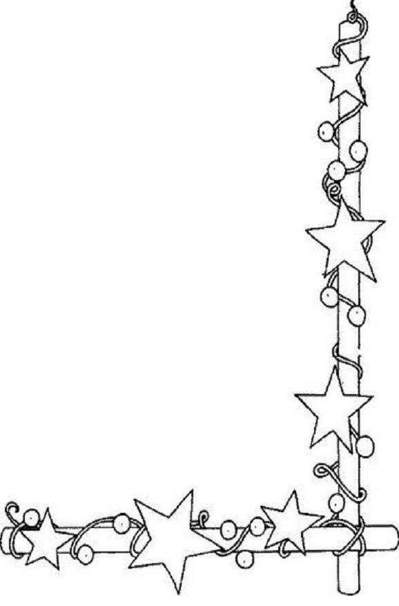 poesie natale bambini in cornice - stelle con le palline da colorare