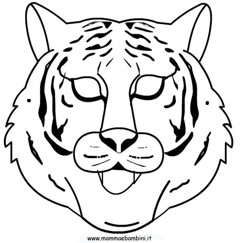 Maszk Szinezes Tigris Maschere Carnevale Colori