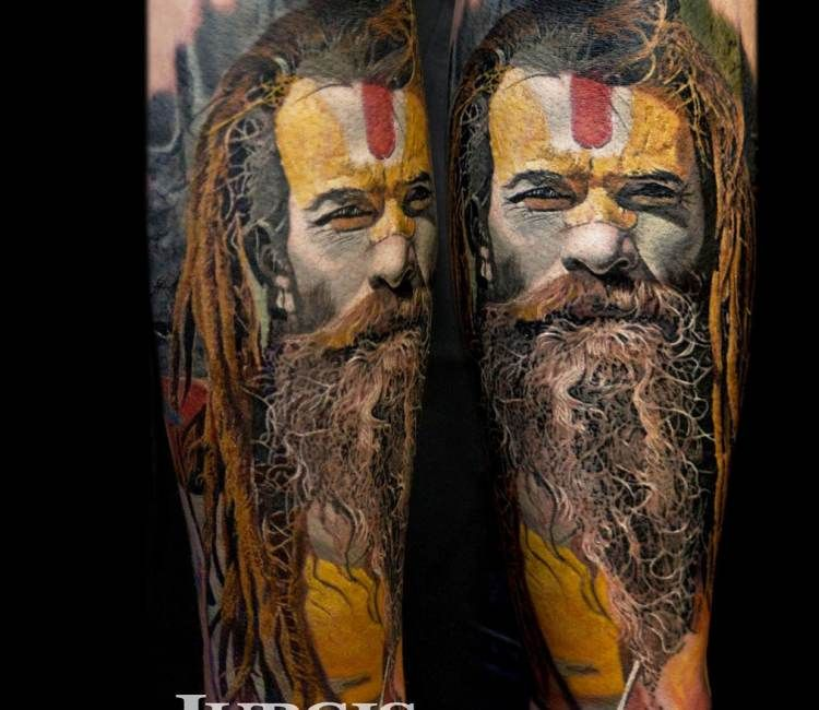 Download Best Tattoo Pictures: Sadhu Tattoo By Jurgis Mikalauskas