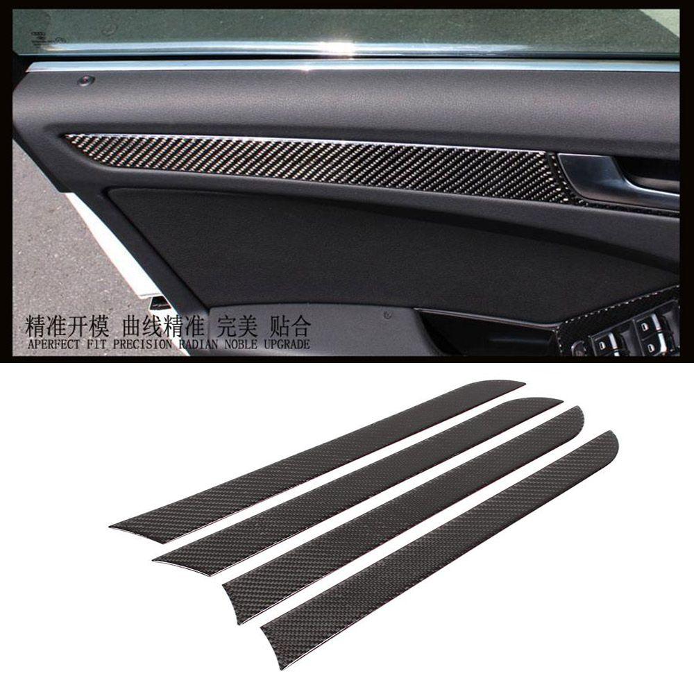 Free shipping 4PCS/SET Carbon Fiber car door panel trim, Accessories ...