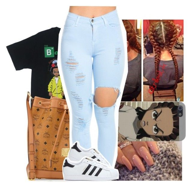 """Riley is a G"" by trillest-k ❤ liked on Polyvore featuring MCM and adidas"